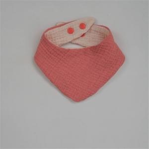 PFIRSICH Halstuch aus Musselin Halstuch genäht vom zimtbienchen zum wenden - Handarbeit kaufen