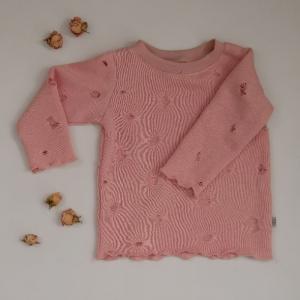DESTROYED Sweater Sweatshirt mit Langarm USED Look Kind Handarbeit von zimtbienchen - Handarbeit kaufen