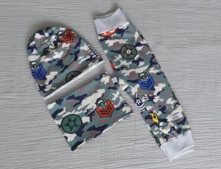 Set Pumphose,Mütze und Loop farbe Camouflage