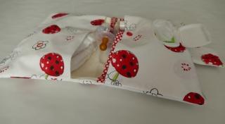 windeltasche-wickeltasche mit drei Fächer Pilze versandfertig