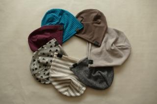 Jersey Beaniemütze in verschiedenen Farben und Muster
