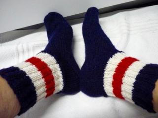 ♡ Socken,handgestrickte Socken, GRÖSSE 39 ,Strümpfe,Strümpfe & Strumpfwaren,blau,rot