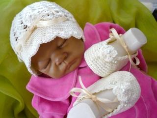 ♡ Babyset,Taufset,Babykleidung,Babymütze,Babyschuhe,Taufe,Taufmütze,TRAUM-PERLE