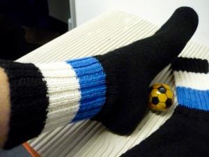 Socken,GRÖSSE 39 ,Strümpfe & Socken,Fußballsocken,Fan Socken,Sportartikel,schwarz-blau- weiß