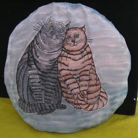 Seidenkissen-Bezug, handbemalt, 50x50 cm mit Reißverschluß (Kopie id: 100105383)