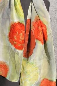 Seiden-Langschal, 1,60 x 45 in Handarbeit im blumigem Stil bemalt, ein Unikat aus meiner  eigenen Werkstatt mit 20jähriger Erfahrung (Kopie id: 100106204) (Kopie id: 100106305) (Ko