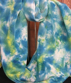 Seiden-Langschal, 1,60 x 45 in Handarbeit  ruhigem Muster bemalt, ein Unikat aus meiner  eigenen Werkstatt mit 20jähriger Erfahrung (Kopie id: 100106204) (Kopie id: 100106305) (Ko