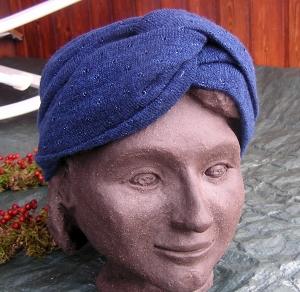 Turban-Stirnband selbstgefertigt aus biologisch zertifizierten Stoffen/Webware (Kopie id: 100159665)