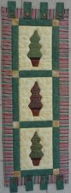 ♡ Weihnachtlicher Wandbehang mit 3 applizierten Bäumchen