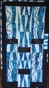 ♡ Moderner Wandbehang in freier Schneidetechnik - Handarbeit kaufen