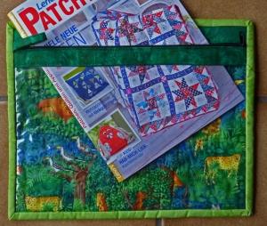 ♡ selbstgenähte Projekthülle mit Sichtfenster - Handarbeit kaufen