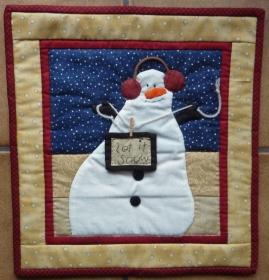 ♡ kleiner Wandbehang  Schneemann (Winter) - Handarbeit kaufen