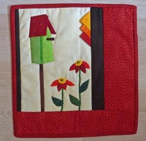 ♡ kleiner Wandbehang  Vogelhäuschen - Handarbeit kaufen