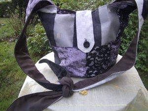 lila-grauer Ballonbeutel,Barock modern