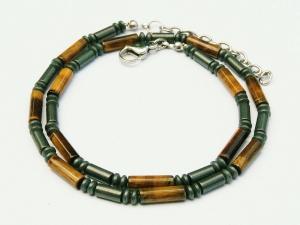 Halskette Tigerauge braun Hämatit für Frauen und Männer  - Handarbeit kaufen