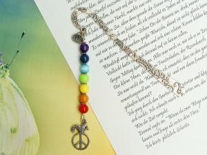 Lesezeichen Frieden Peace Friedenstaube Regenbogenfarben bunt - Handarbeit kaufen