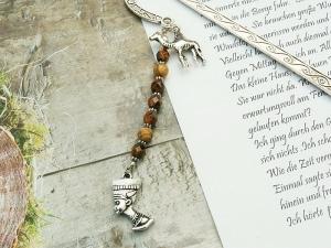 Lesezeichen Metall Ägypten Nofretete Kamel Dromedar Edelstein Landschaftsjaspis - Handarbeit kaufen
