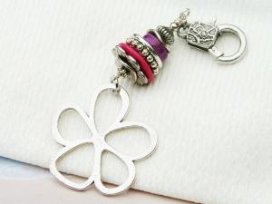 Anhänger große Blume Edelstein Sugilith Jaspis Kettenanhänger Schlüsselanhänger Taschenanhänger - Handarbeit kaufen
