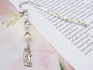Lesezeichen groß Metall Hochzeitspaar Liebespaar Mistelzweig Geschenk zur Hochzeit - Handarbeit kaufen