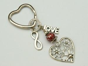 Schlüsselanhänger Herz Love Infinity Taschenanhänger - Handarbeit kaufen