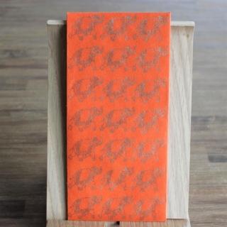 Handgeschöpfte indische Briefumschläge, ideal als besondere Verpackung für das  Geldgeschenk zu Hochzeiten, Geburtstage und weiteren Anlässen, Orange mit  Elefanten in goldfarbig