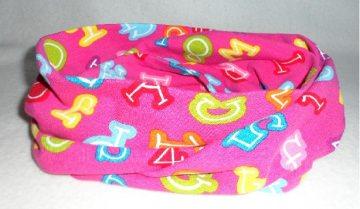 Kinder Loop ♥ Jersey ♥ pink ♥ Zahlen und Buchstaben ♥ Handmade