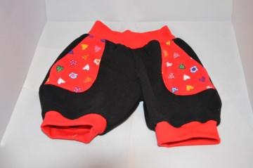 Pumphose ♥ Sommerhose ♥ kurz ♥ Jersey ♥ Gr. 98 ♥ Handmade