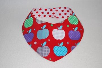 Hundehalstuch ♥ Wendehalstuch ♥ Größe L ♥ rot ♥ Äpfel ♥ Handmade