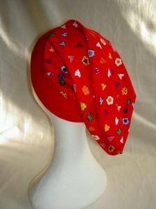 Beaniemütze  ♥ KU 55 - 57 cm ♥ Jersey ♥ Herzmotiven ♥ Handmade - Handarbeit kaufen
