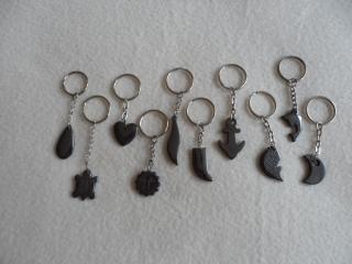 Schlüsselanhänger ♥ Taschenanhänger ♥ Halbedelstein ♥ Hämatit - Handarbeit kaufen