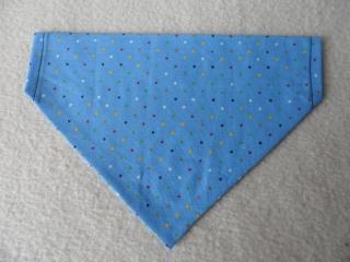 Hundehalstuch ♥ Wendehalstuch ♥ Größe M ♥ Blau ♥ Punkte ♥ Handmade  - Handarbeit kaufen