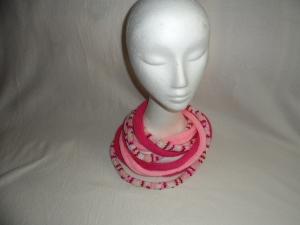 Loop - Ketten - Schal, gestrickt, rot, rosa, bunt