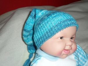 Zipfelmütze gestrickt, Babymütze, Kindermütze, KU 42 - 44 cm - Handarbeit kaufen