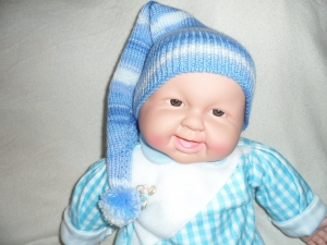 Zipfelmütze gestrickt, Babymütze, Kindermütze, KU 40 - 44 cm
