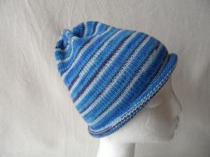 Beanie, Mütze mit Rollrand, Farbverlauf Umfang: 50 - 52 cm