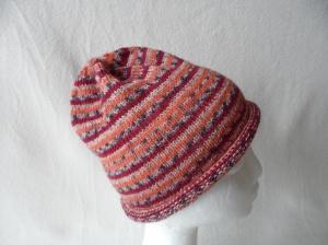 Beanie, Mütze mit Rollrand, gestrickt, Farbverlauf, KU 50/ 52 cm,unisex   - Handarbeit kaufen