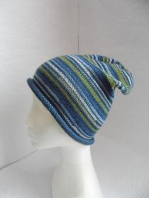 Beanie, Mütze mit Rollrand, Farbverlauf, KU 54 - 56 cm  - Handarbeit kaufen