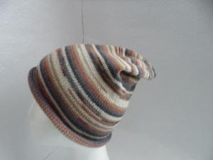 Beanie, Mütze mit Rollrand, gestrickt, Farbverlauf, KU 54/ 56 cm, unisex  - Handarbeit kaufen