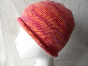 Beanie, Mütze mit Rollrand, Farbverlauf  orange, Umfang: 50 - 52 cm - Handarbeit kaufen