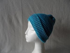 Beanie, Mütze gestrickt, Farbverlauf blau, Umfang: 50 - 52 cm   - Handarbeit kaufen