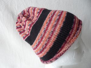 Beanie, Mütze mit Rollrand, gestrickt, Farbverlauf, KU 48- 50 cm,unisex    - Handarbeit kaufen