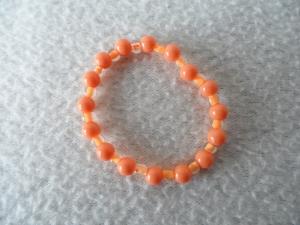 Kinderarmband, Kunststoffperlen, orange - Handarbeit kaufen
