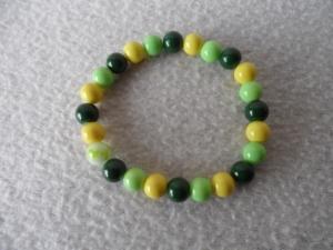 Perlenarmband,verschiedene Grüntöne  - Handarbeit kaufen