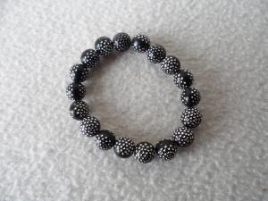 Perlenarmband schwarz - Handarbeit kaufen