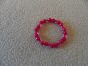 Kinderarmband, Perlenarmband,Kunststoffperlen, pink - Handarbeit kaufen