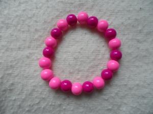 Perlenarmband, Acrylperlen, verschiedene Lilatöne - Handarbeit kaufen