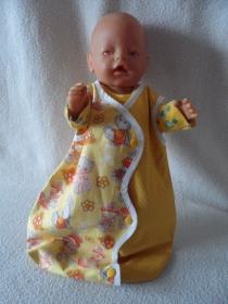 Puppenschlafsack,für Puppen bis Größe 43 cm   - Handarbeit kaufen