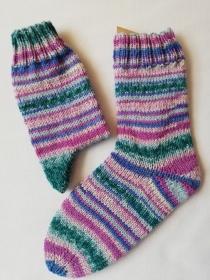 handgestrickte Kindersocken, Regia 3653, verschiedene Größen möglich (Gr. 30/31 - 34/35), aus 6-fädiger Sockenwolle - Handarbeit kaufen