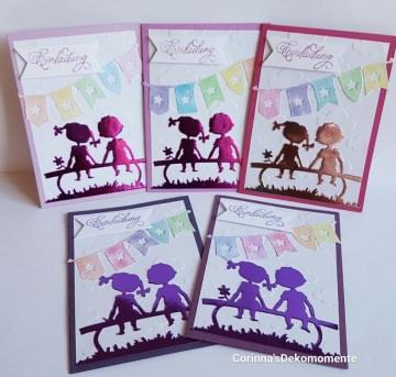 ♥Einladungskarten Kindergeburtstag♥Schulanfang♥5er Set♥ Nr.464