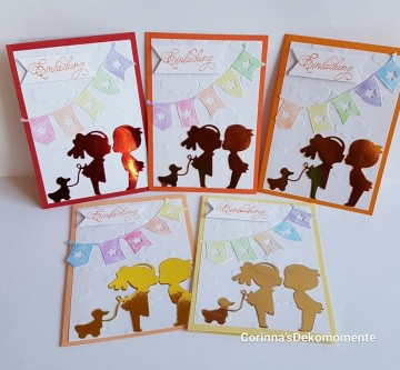 ♥Einladungskarten Kindergeburtstag♥Schulanfang♥5er Set♥ Nr.463
